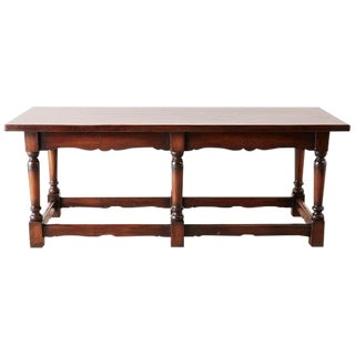 Italian Baroque Style Refectory Table or Library Table For Sale