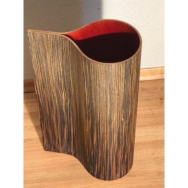 Mid-Century Modern 1970's Vintage Wooden Floor Vase For Sale - Image 3 of 6