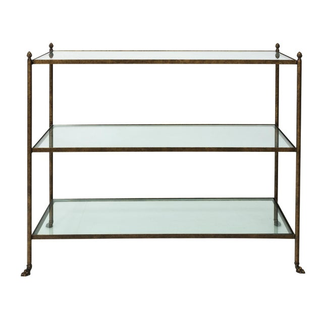 Pair of 1980s Three-Tier Glass Etageres For Sale - Image 9 of 13