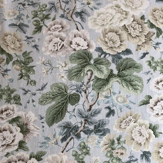 Scalamandre High Grove Linen Print Fabric 2 Yards For Sale