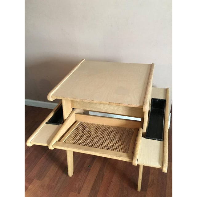 Vintage Mid-Century Modern Side Table With Planters - Image 2 of 6
