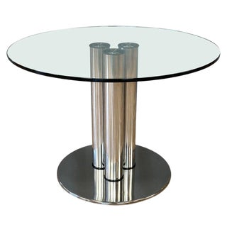 Marco Zanuso for Zanotta 2532 Marcuso Steel and Glass Dining Table, 1970 For Sale