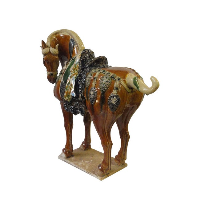 Chinese Porcelain Battle Horse Statue Figurine - Image 5 of 5