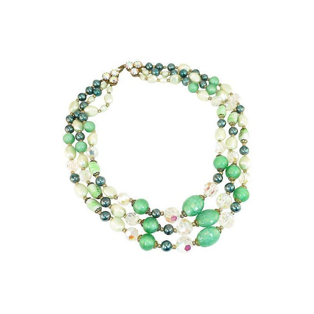 Austrian Crystal & Peking Glass Necklace, 1950s For Sale - Image 4 of 8
