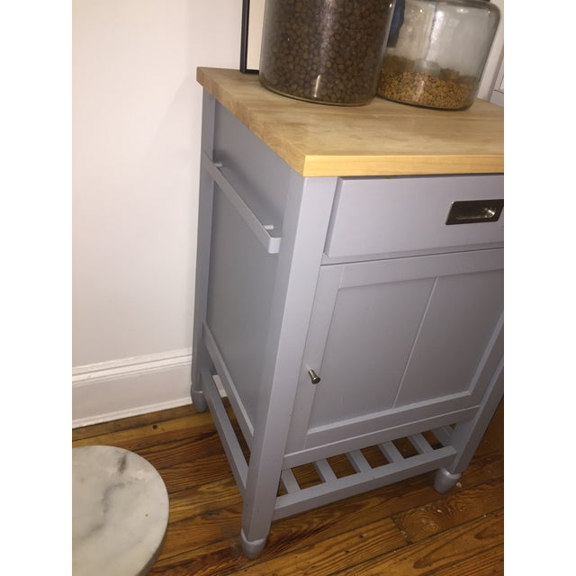 2010s Crate & Barrel Kitchen Island With Butcher Block For Sale - Image 5 of 10