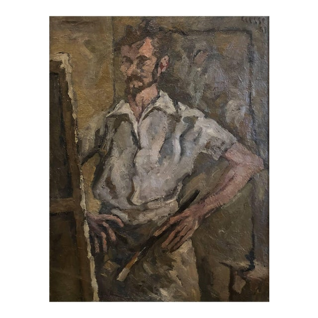 20th Century Abstract Self Portrait Painting by Daniel Clesse For Sale