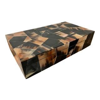 Jewelry Trinket Box Mosaic Bone Marketry For Sale