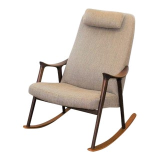 Mid Century Modern Danish Rocking Chair For Sale