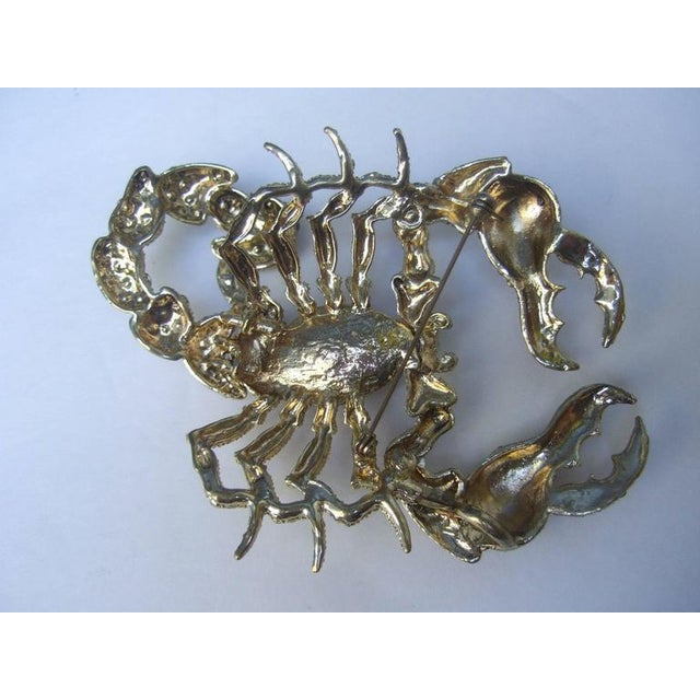 Early 21st Century Massive Glittering Crystal Scorpion Brooch For Sale - Image 5 of 6