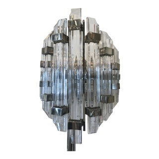 Modern Crystal and Acrylic Sconce For Sale