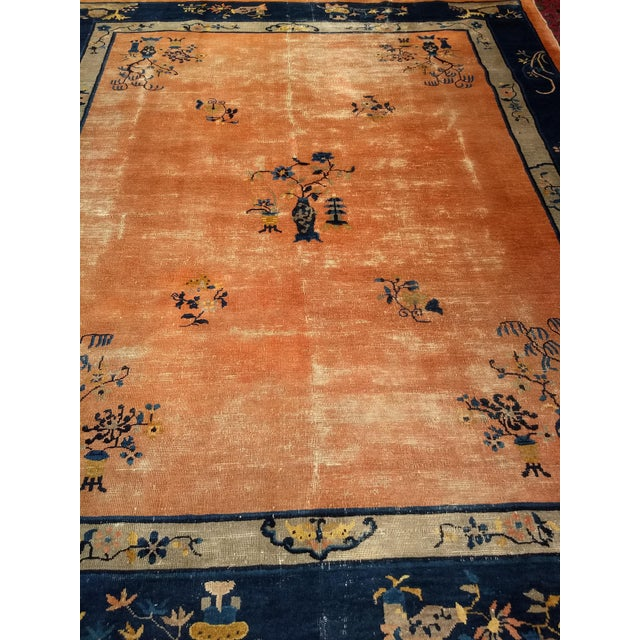 Late 19th Century Antique Chinese Peking Rug - 8′ × 9′5″ For Sale - Image 9 of 10