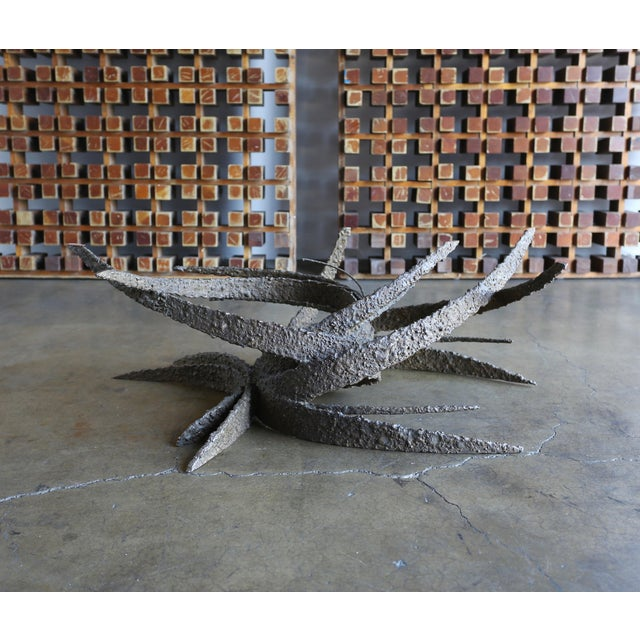 1960s Daniel Gluck Sculptural Bronze Coffee Table For Sale - Image 11 of 11