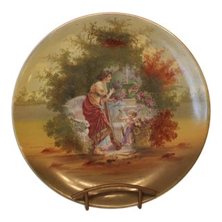 Woman and Harp and Putti Pastoral Decorative Plate