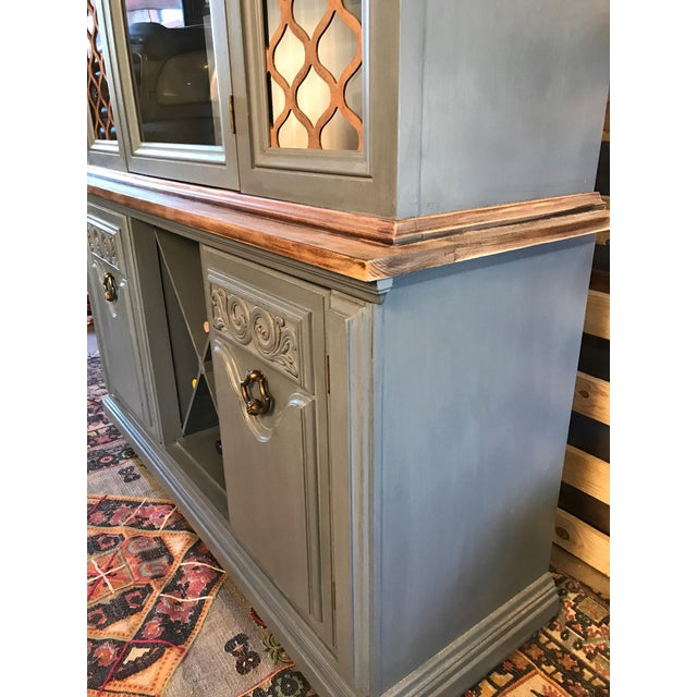 Gray Chalk Painted Wine Cabinet - Image 2 of 8