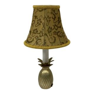 Mid-Century Brass Pineapple Mini Lamp