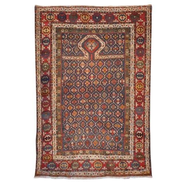 "19th Century Kuba Prayer Carpet - 39"" x 56"" For Sale"