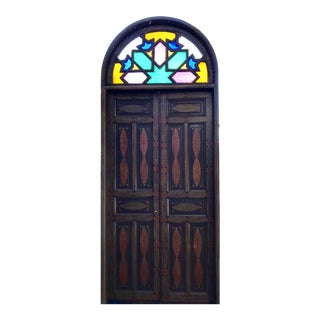 Stained Glass Window Moroccan Medina Door For Sale