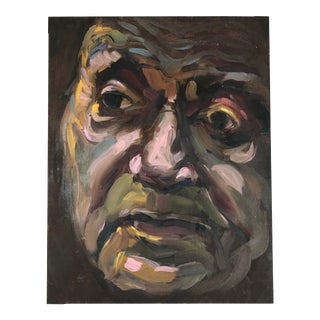 Late 20th Century Oil on Canvas Portrait Painting For Sale
