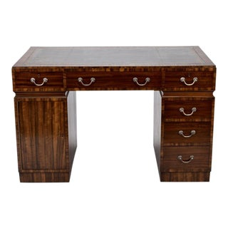 French Art Deco Coromandel Desk With Leather Top