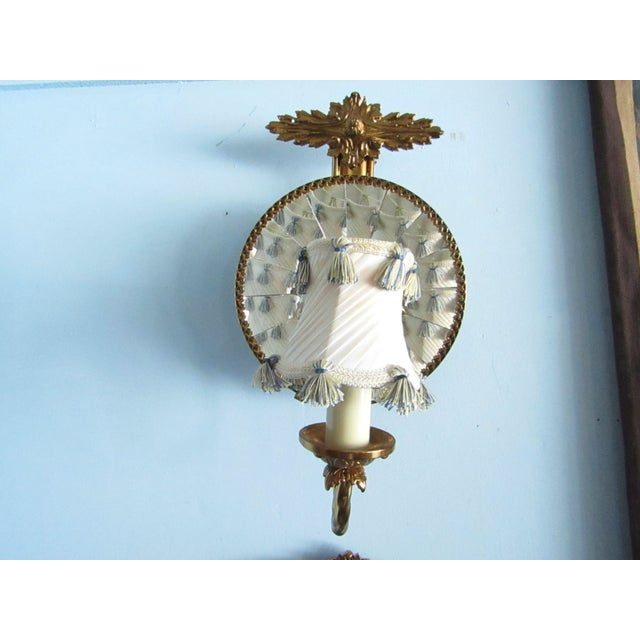 Mirrored Wall Sconces - A Pair - Image 3 of 7