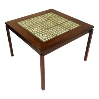 1960s Danish Modern Rosewood and Nils Thorsson Tiles Coffee Table For Sale