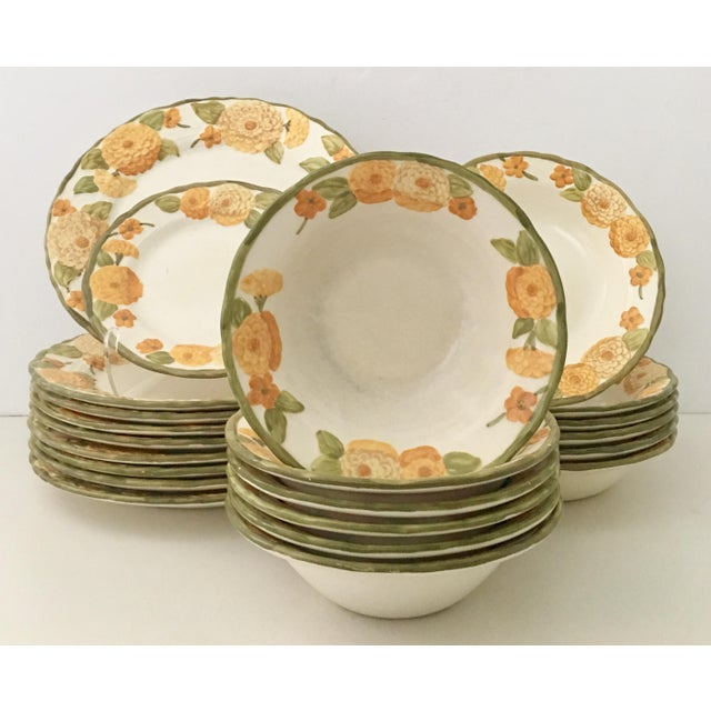 "1960s Ceramic Metlox ""Zinnia"" Dinnerware - Set of 22 - Image 2 of 7"