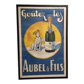 1930 Original Affiches Gaillard Aubel & Fils Champagne Poster For Sale