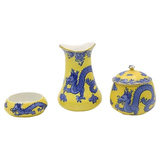 Antique English Dragon Vanity Set
