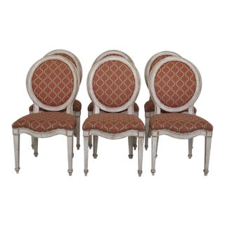 1990s Vintage Hickory Upholstered Dining Chairs - Set of 6 For Sale