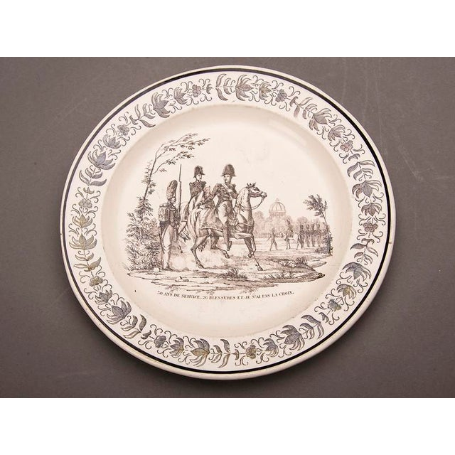 Set Eight Antique French Transferware Plates, c.1860 For Sale - Image 4 of 11