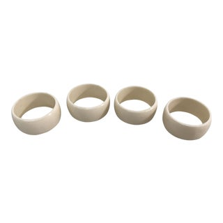 Cream Colored Vintage Napkin Rings - Set of 4