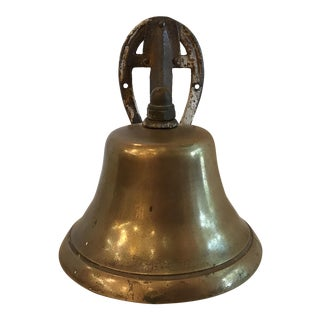 Rustic Brass Cast Iron Horseshoe Mount Dinner Bell