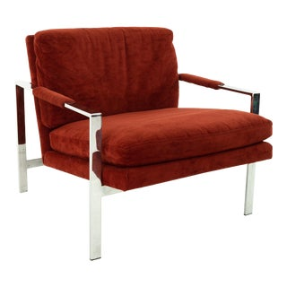 1970s Patrician Furniture Company Mid Century Chrome Lounge Chair For Sale