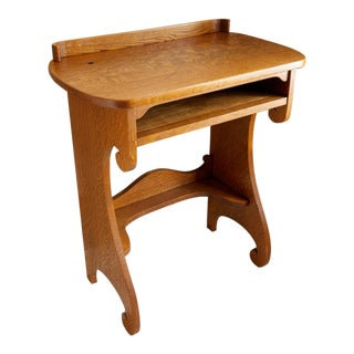 Vintage Oak Writing Desk For Sale