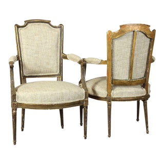 18th Century French Fauteuils - A Pair