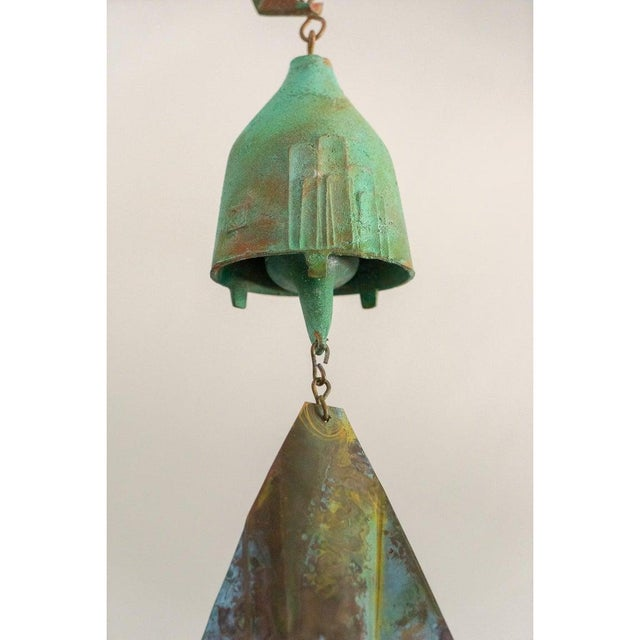 Metal Mid-Century Modern Brutalist Bronze Wind Chime by Paolo Soleri For Sale - Image 7 of 12