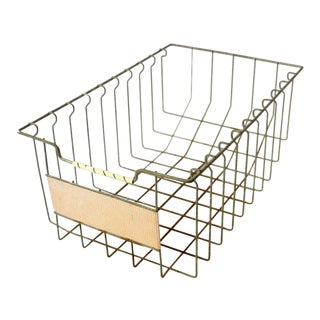Vintage Mid Century Wire Basket For Sale