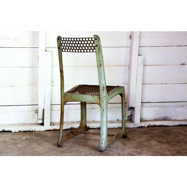 Industrial 1950s Vintage Metal Envoy #13 Vintage Americana School Chair For Sale - Image 3 of 9