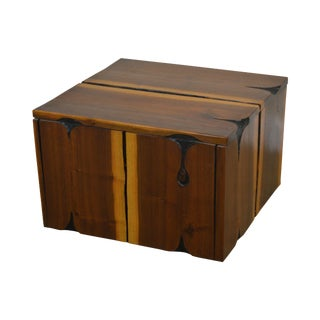 Studio Crafted Walnut Free Form Cube Coffee Table After Phillip Powell For Sale