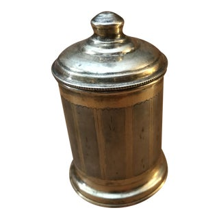 Gilt Sterling Silver Lidded Beaker