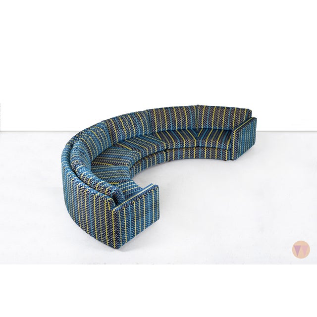 Milo Baughman Curved Sectional Sofa For Sale In Chicago - Image 6 of 12