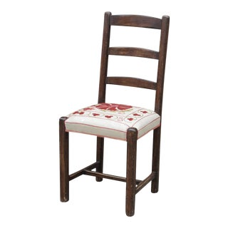 Uzbek Suzani Ladderback Side Chair For Sale