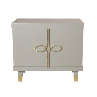 Chloe Nightstand With Doors (French Gray) For Sale
