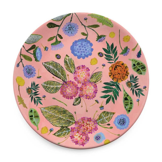 Not Yet Made - Made To Order Kenneth Ludwig Chicago Wildflowers Plates - Set of 4 For Sale - Image 5 of 6