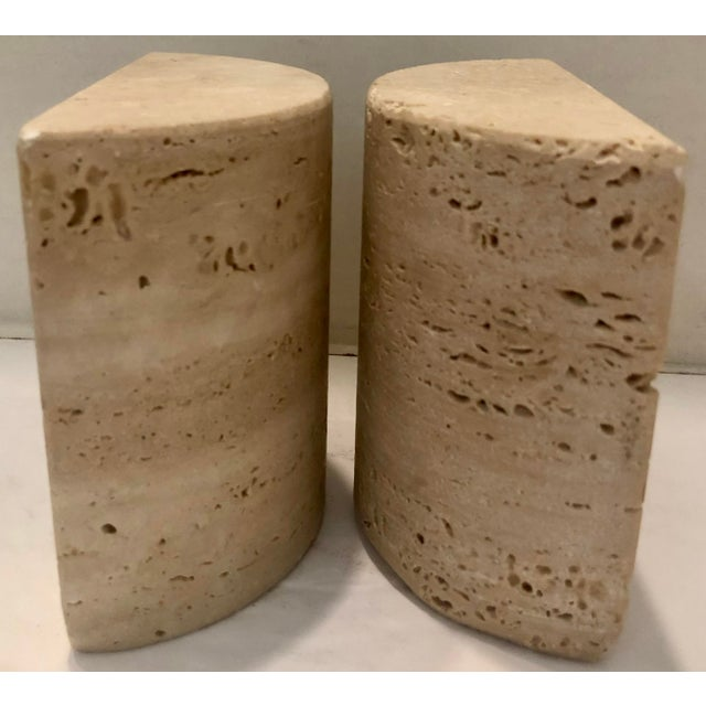 Italian Travertine Bookends For Sale - Image 4 of 7