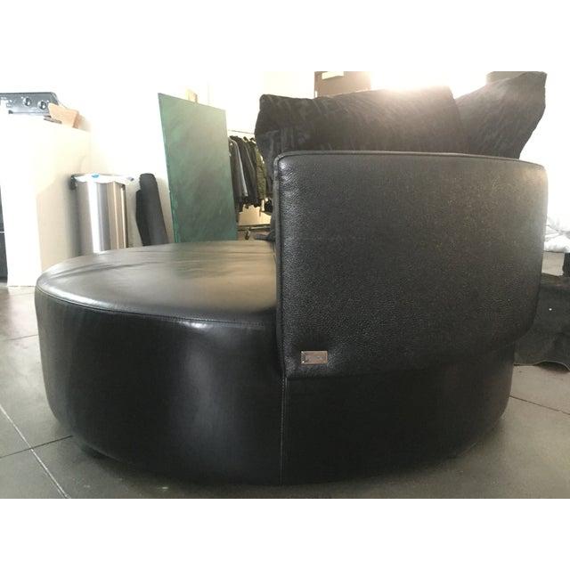 Fendi Casa Black Stingray Leather Circular Sofa - Image 4 of 6