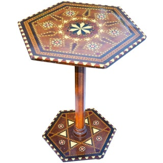 Moorish Table W/Inlay and Motif For Sale