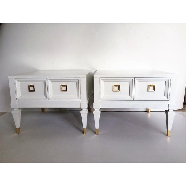 Widdicomb Mid-Century End Tables Nightstands- Pair - Image 2 of 5