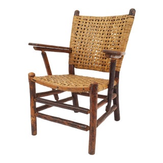 Old Hickory Woven Arm Chair For Sale
