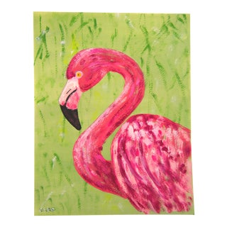 Flamingo Bird in Pink by Cleo Plowden For Sale